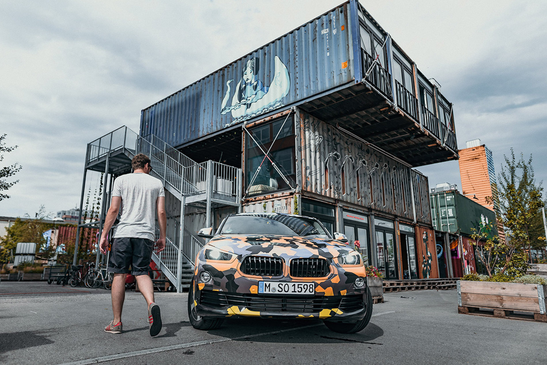 Production BMW X2 ficially Teased in Orange Camo